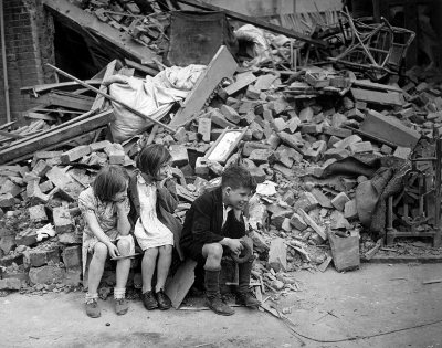 East London during the Blitz - WWII